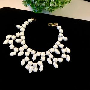 Ann Taylor loft White Coated Link Bracelet NWT$39